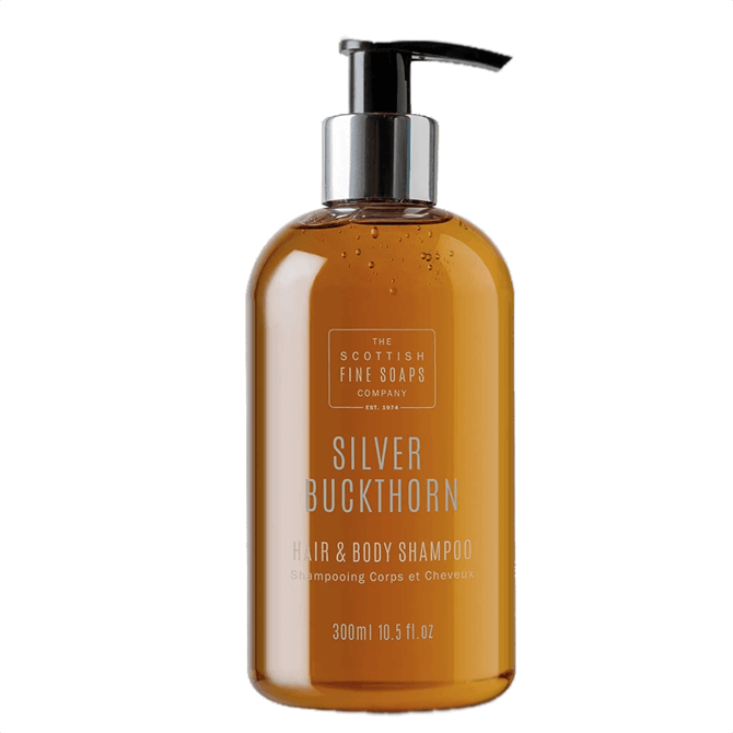 The Scottish Fine Soap Co. Silver Buckthorn Hair & Body Shampoo Bottle  300ml
