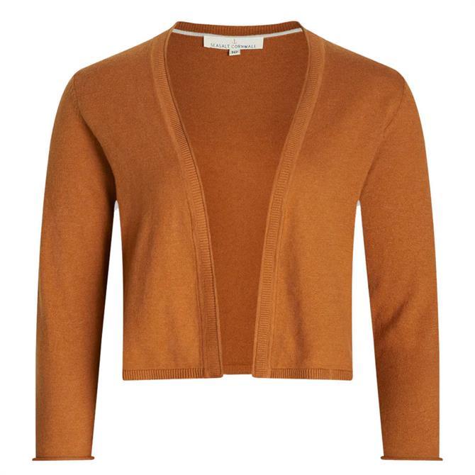 Seasalt Vanessa 3/4 Sleeve Cardigan Slipware Brown