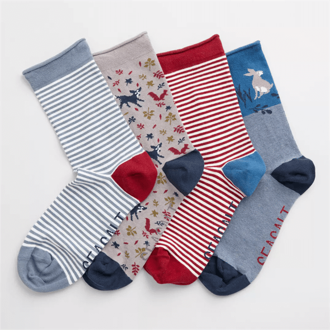 Seasalt Arty Socks Box Of 4