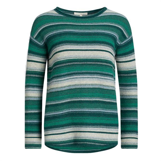 Seasalt Fruity II Striped Sweater in Green