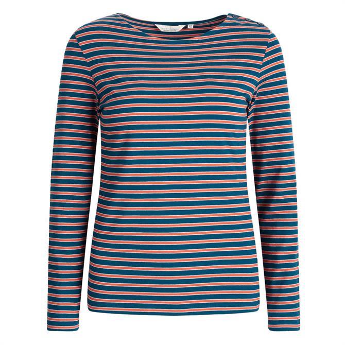 Seasalt Low Light Striped Jersey Top