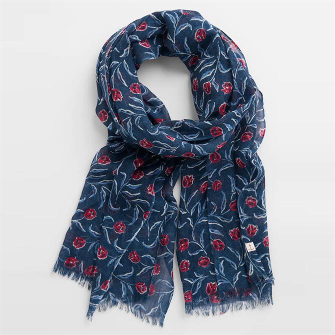 Seasalt Pretty Printed Wool & Silk Patterned Scarf