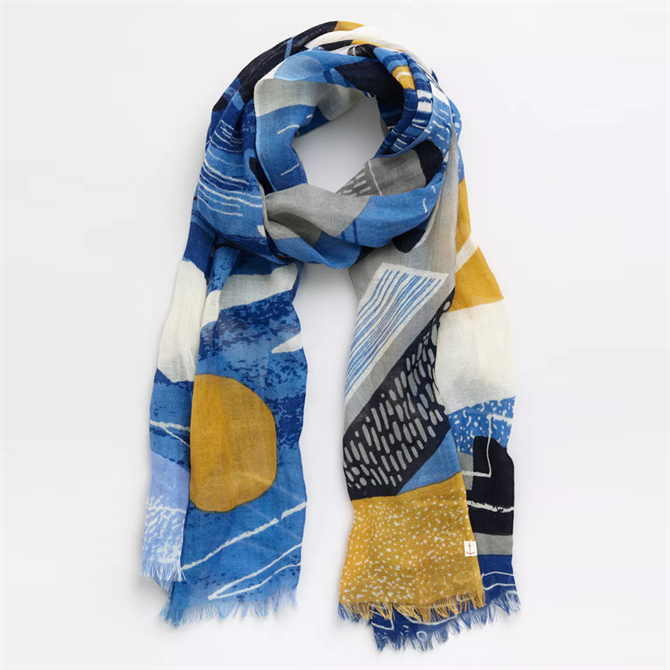 Seasalt Pretty Printed Wool & Silk Scarf