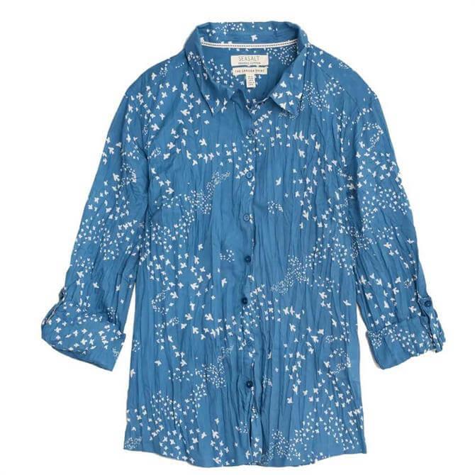 Seasalt Larissa Murmuration Cornish Blue Organic Shirt
