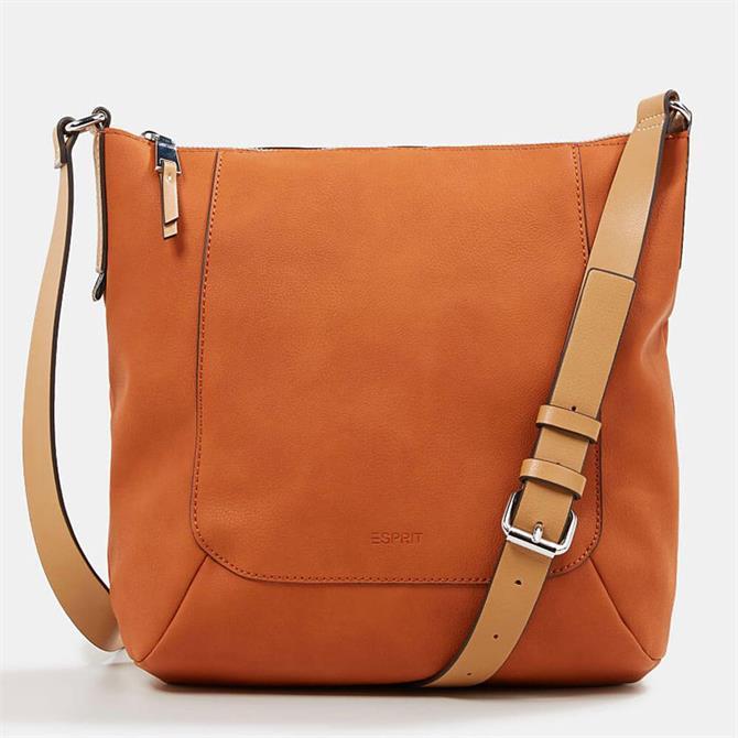 Esprit Faux Leather Burnt Orange Shoulder Bag