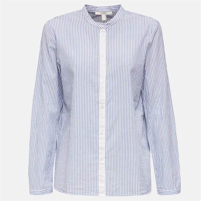 Esprit Women's 100% Cotton Stand-Up Collar Shirt