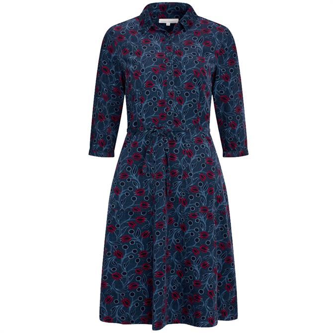 Seasalt Clove Hitch Needlecord Floral Shirt Dress