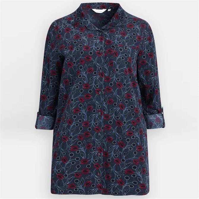 Seasalt Emma Needlecord Floral Longline Shirt