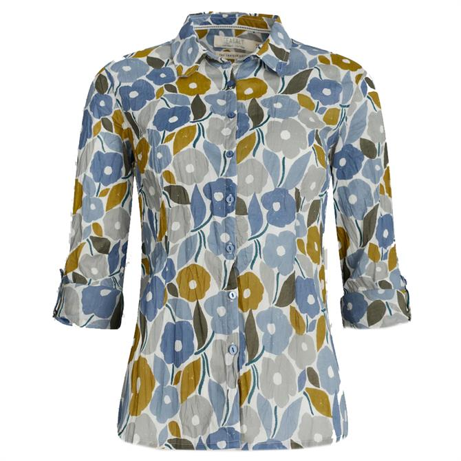 Seasalt Larissa Cotton Shirt in Chalked Blooms Wild Pansy Print