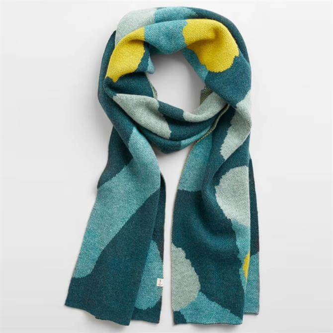 Seasalt Notebook Jacquard Merino Wool Blend Scarf