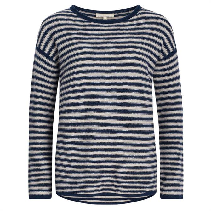 Seasalt Fruity II Striped Sweater in Aran Night