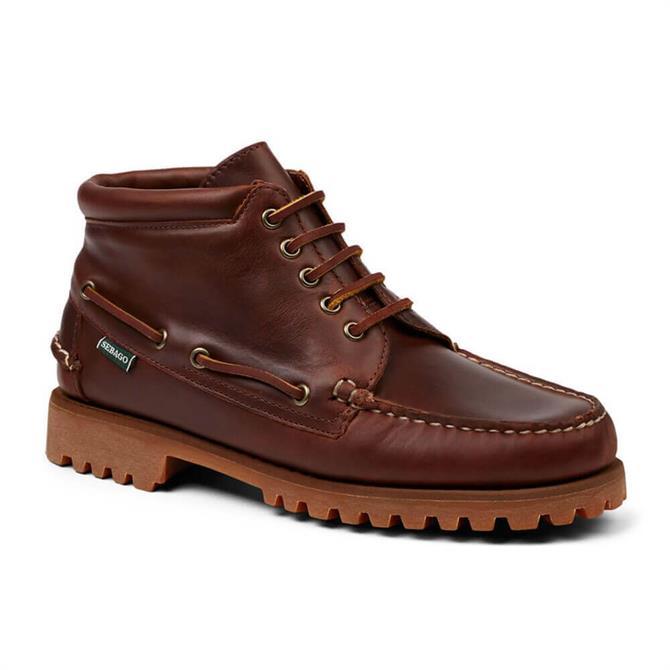 Sebago Ranger Mid Waxy Brown Leather Boot