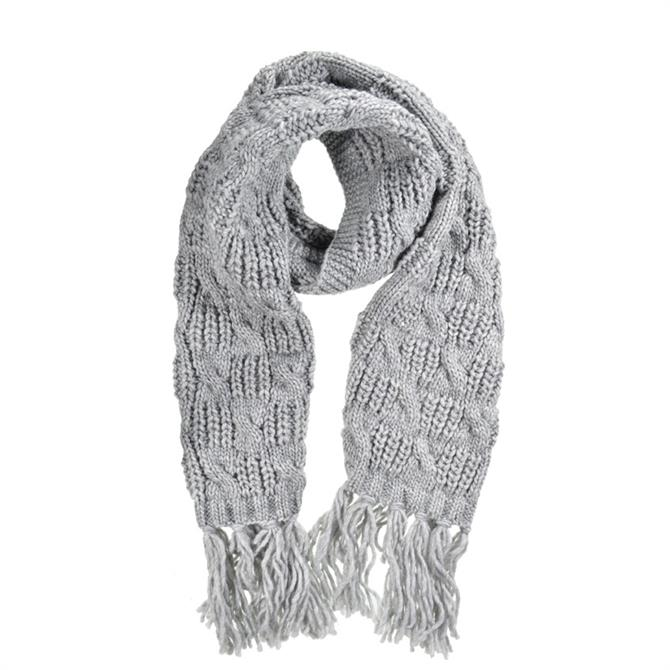 Seeberger Cable Pattern Scarf with Fringes