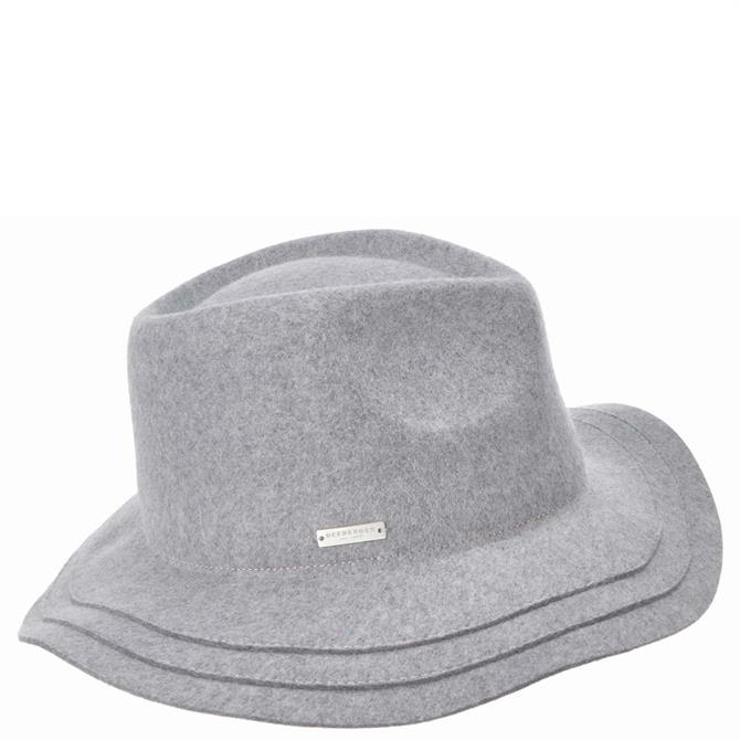 Seeberger Felt Fedora Hat with Cut and Sewn Brim
