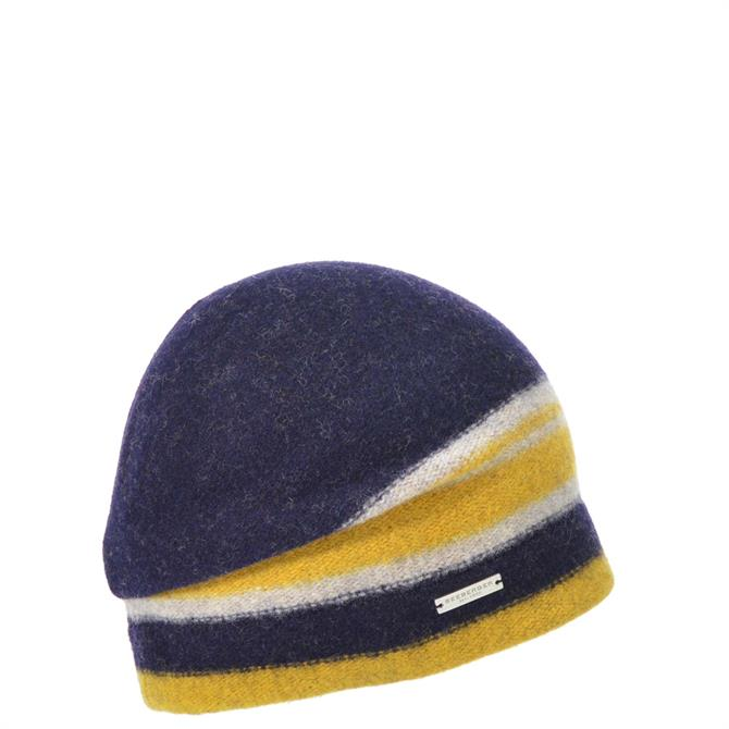 Seeberger Boiled Wool Striped Beanie