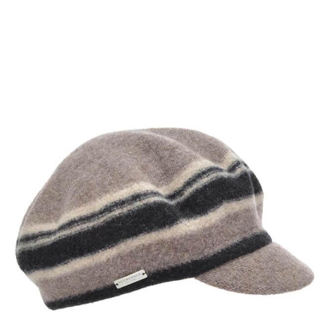 Seeberger Bolied Wool Striped Cap