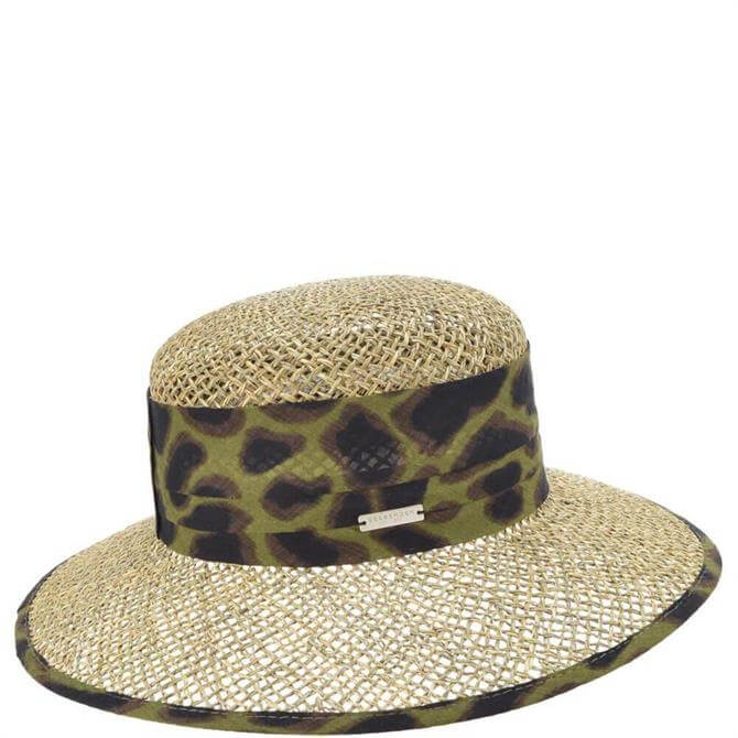 Seeberger Cloche Hat with Leopard Print