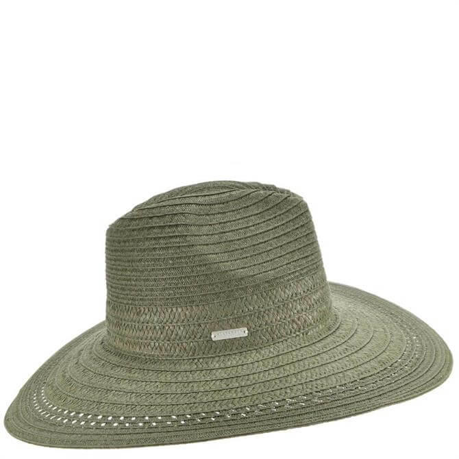 Seeberger Fedora Hat in Khaki Braid Mix