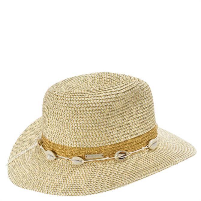 Seeberger Fedora Hat in Shiny Melange Braid