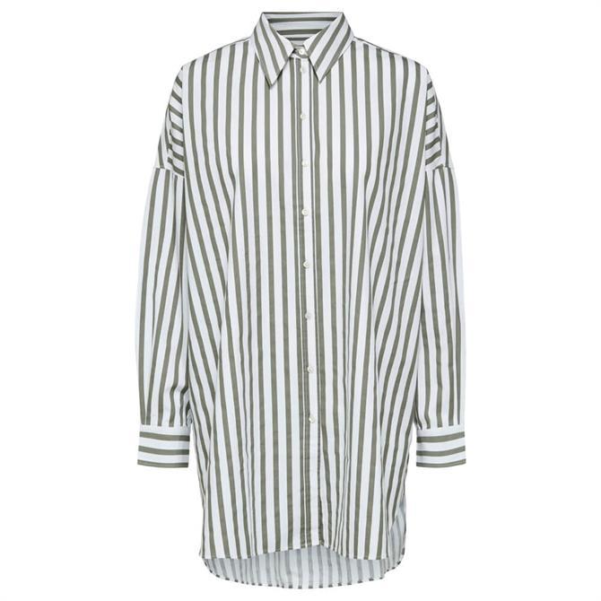 Selected Femme Phoenix Striped Long Shirt