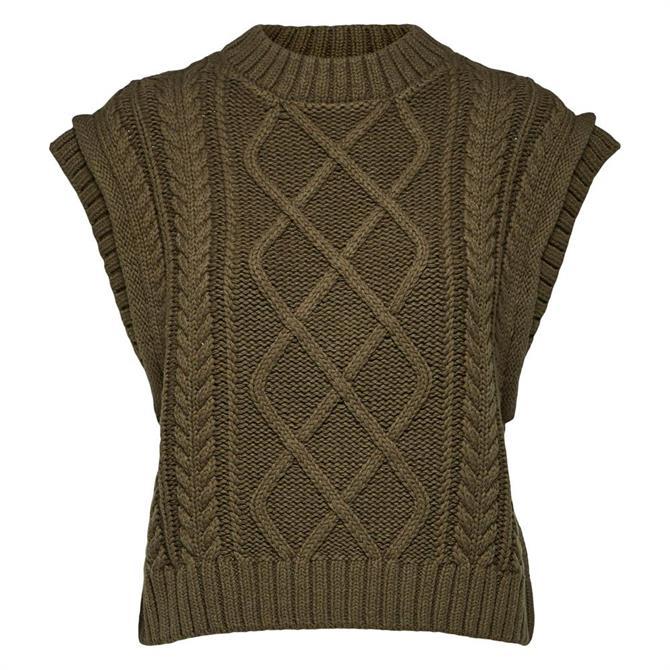 Selected Femme Cable Knit Vest