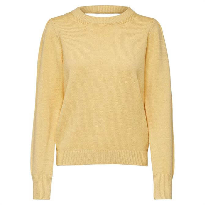 Selected Femme Yellow Long Sleeve Knitted Jumper