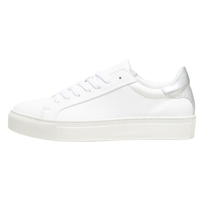 Selected Femme Donna Leather Trainers