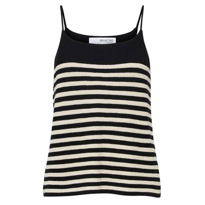 Selected Femme Elina Striped Strap Top