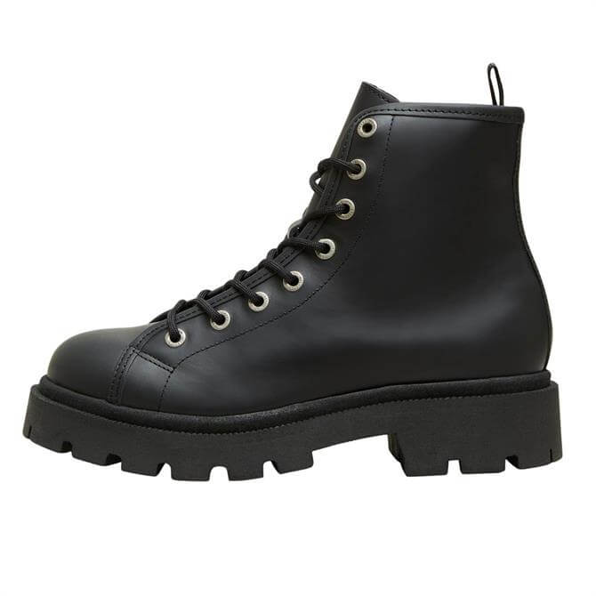 Selected Femme Emma Lace Up Leather Boots