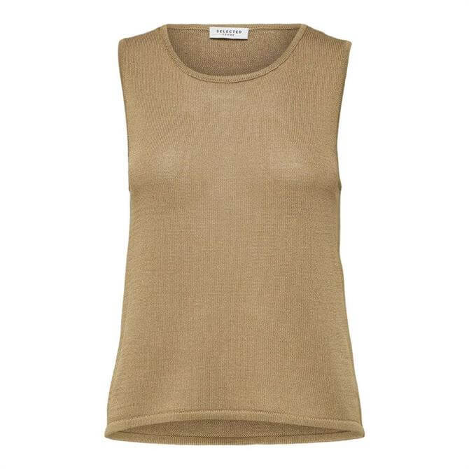Selected Femme Moon Sleeveless Knit Top