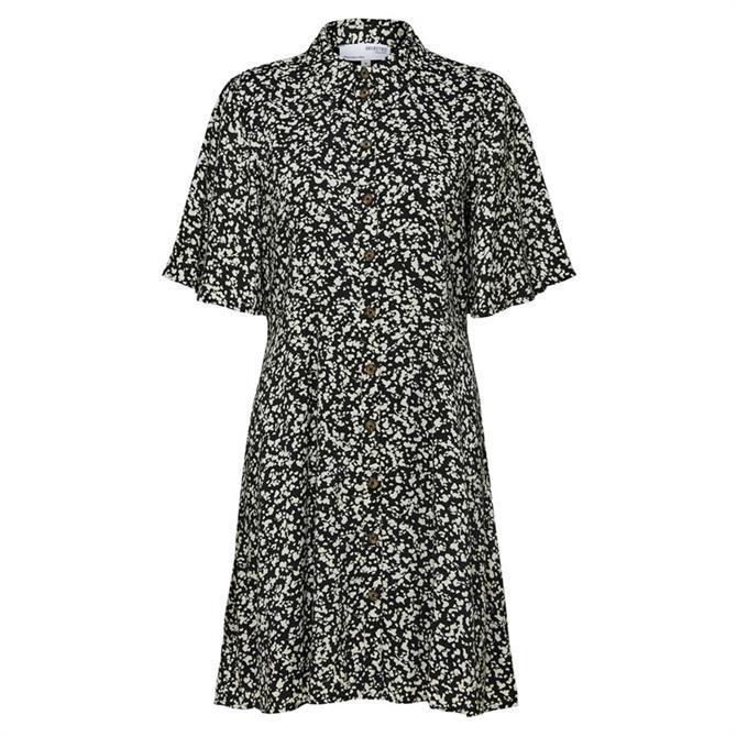 Selected Femme Uma Printed Short Shirt Dress