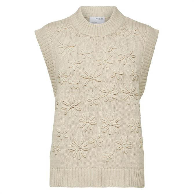 Selected Femme Fia Sleeveless High Neck Sweater
