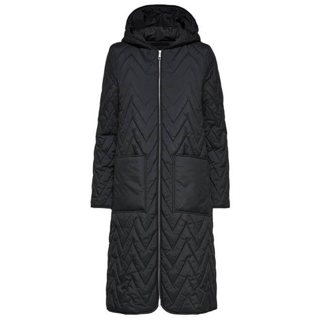 Selected Femme Nora Quilted Hooded Coat