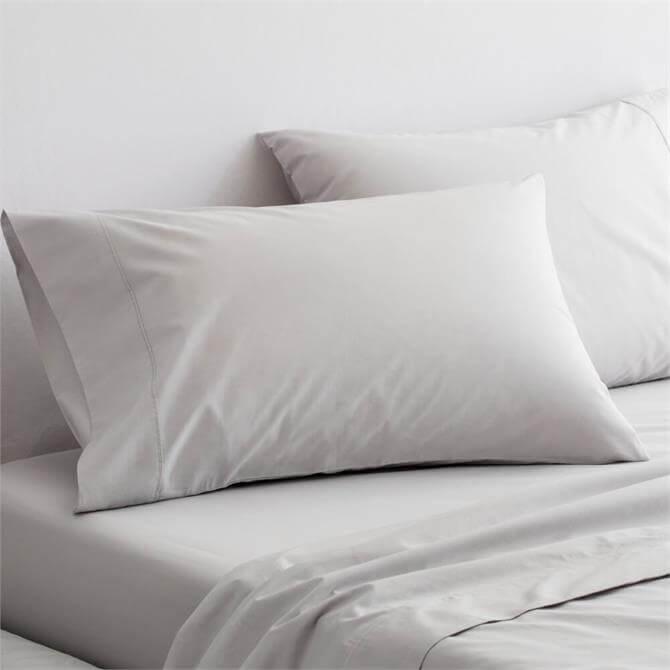 Sheridan 300tc Organic Percale Dove Pair of Standard Pillowcases