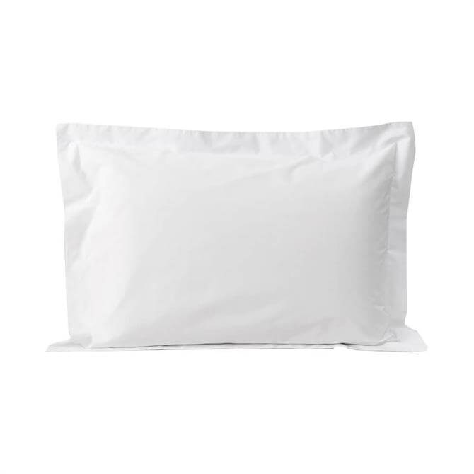 Sheridan 300tc Organic Percale Snow Pair of Tailored Pillowcases