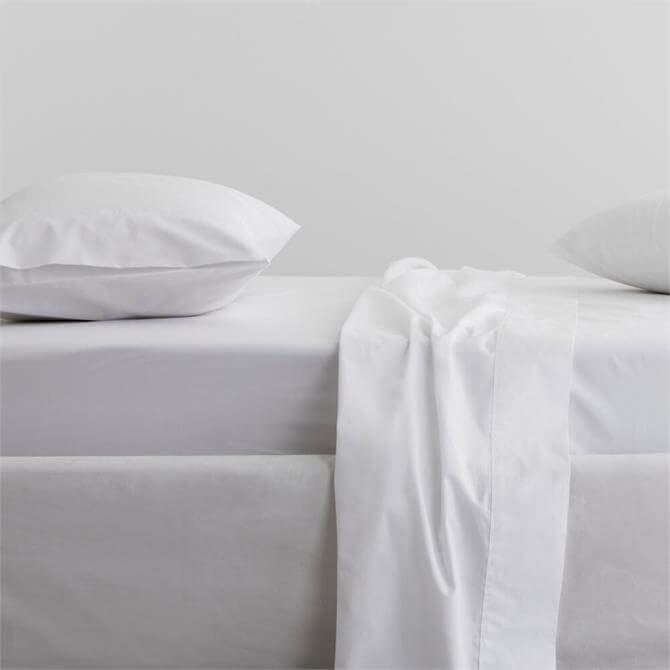 Sheridan 300tc Organic Percale Snow Fitted Sheet
