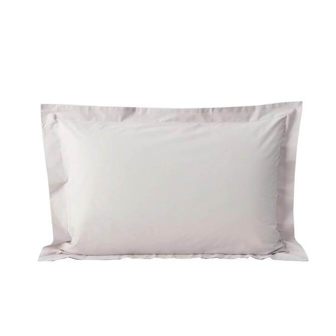 Sheridan 300tc Organic Percale Dove Pair of Tailored Pillowcases