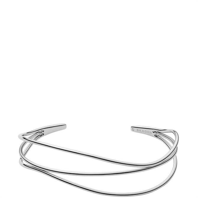 Skagen Kariana Silver Tone Wire Bracelet