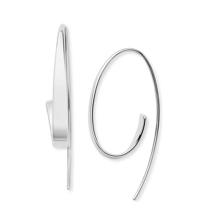 Skagen Kariana Silver Tone Curl Earrings