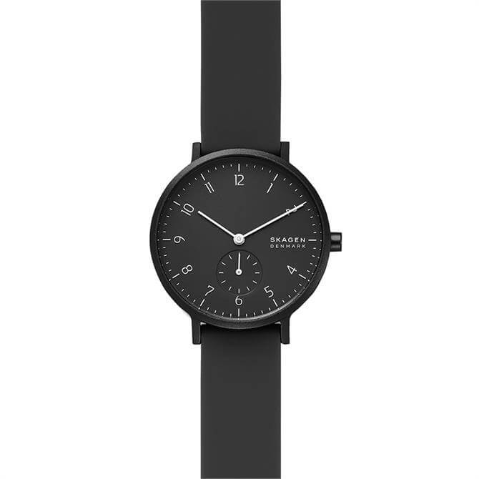 Skagen Aaren Kulor Black Silicone Ladies Watch