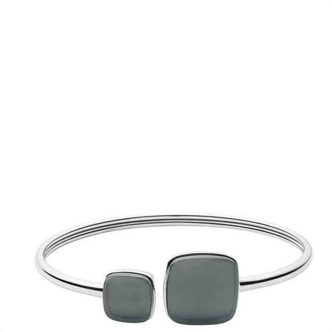 Skagen Sea Glass Silver Tone Bangle