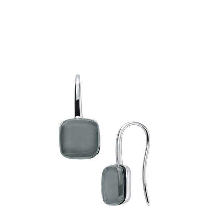 Skagen Sea Glass Silver Tone Drop Earrings
