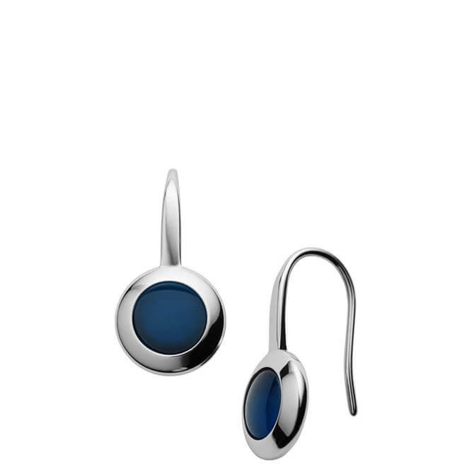 Skagen Sea Glass Silver Tone Earrings