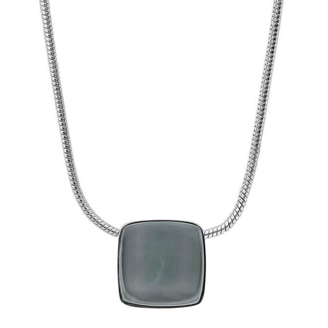 Skagen Sea Glass Silver Tone Necklace