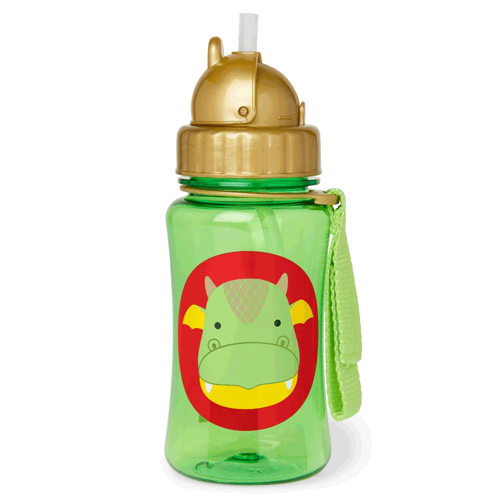 An image of Skip Hop Zoo Straw Dragon Bottle
