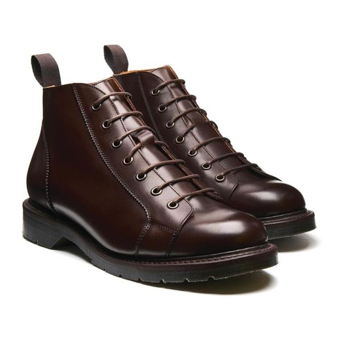 Solovair Walnut Brown Leather Monkey Boot