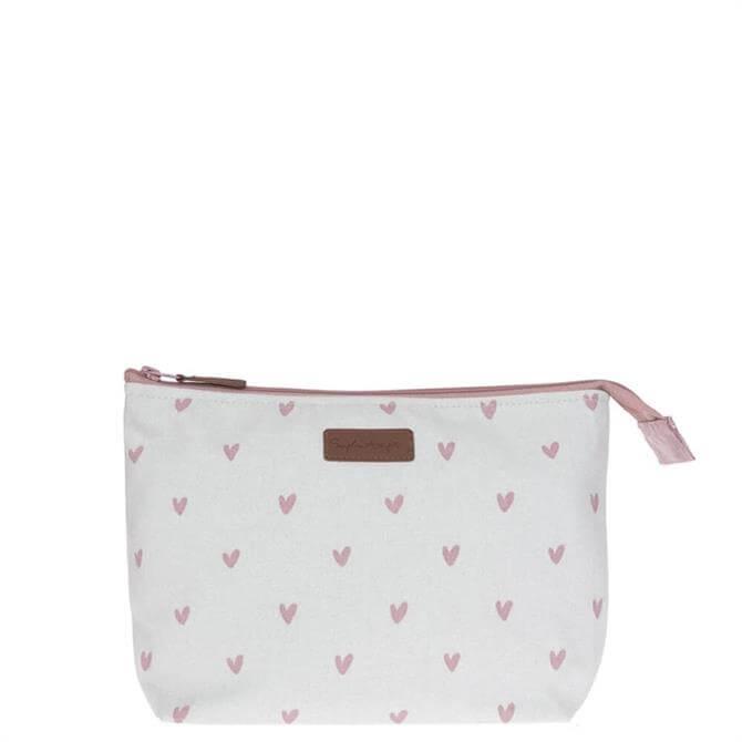 Sophie Allport Hearts Canvas Wash Bag