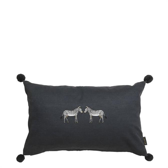 Sophie Allport Zebra Embroidered Cushion