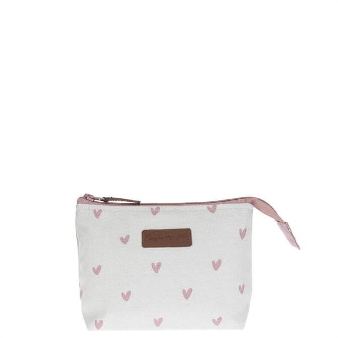 Sophie Allport Hearts Canvas Makeup Bag