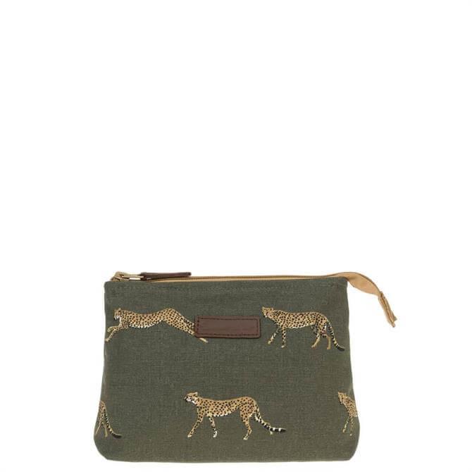 Sophie Allport Cheetah Canvas Makeup Bag